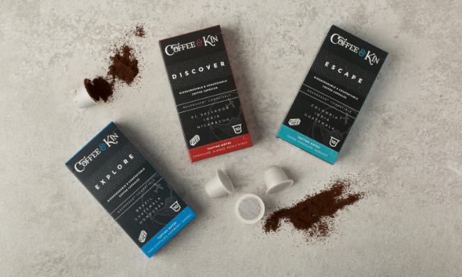 Plastic free and eco-friendly coffee pods