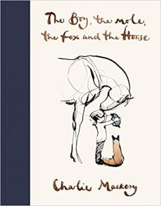 A book called The boy the fox the mole and the horse by Charlie Mackesy